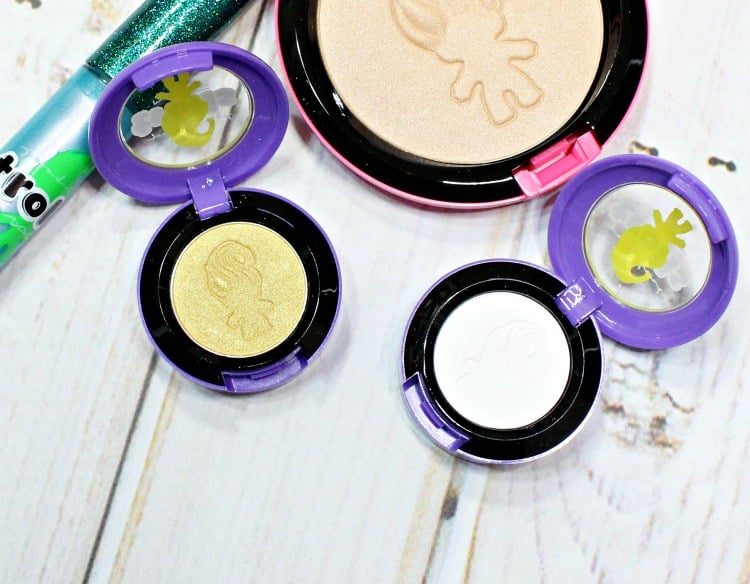 MAC Good Luck Trolls Eyeshadow Swatches Review swatch pics suns out buns out silly vanilly