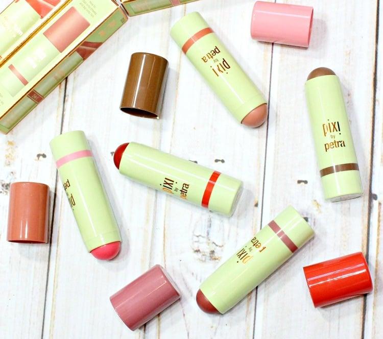 PIXI Beauty MultiBalm 2-in-1 lip cheek cream swatches