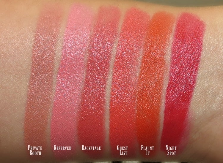 Sleek makeup lipstick swatches