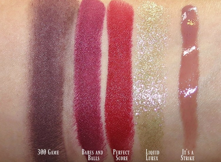 MAC It's a Strike makep collection swatches review swatch pics photos