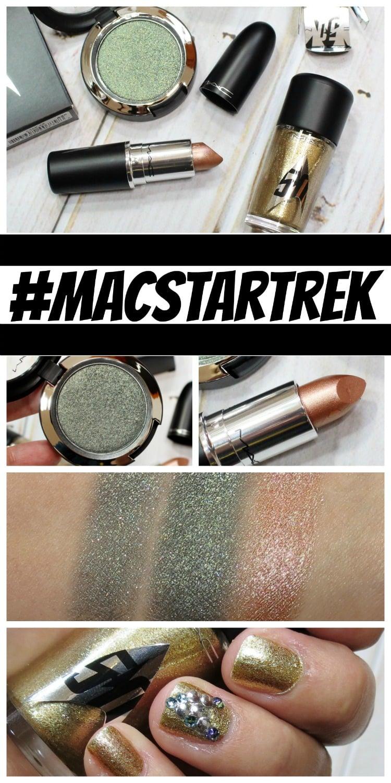 MAC Star Trek Makeup collection swatches review swatch pics pinteres #macstartrek