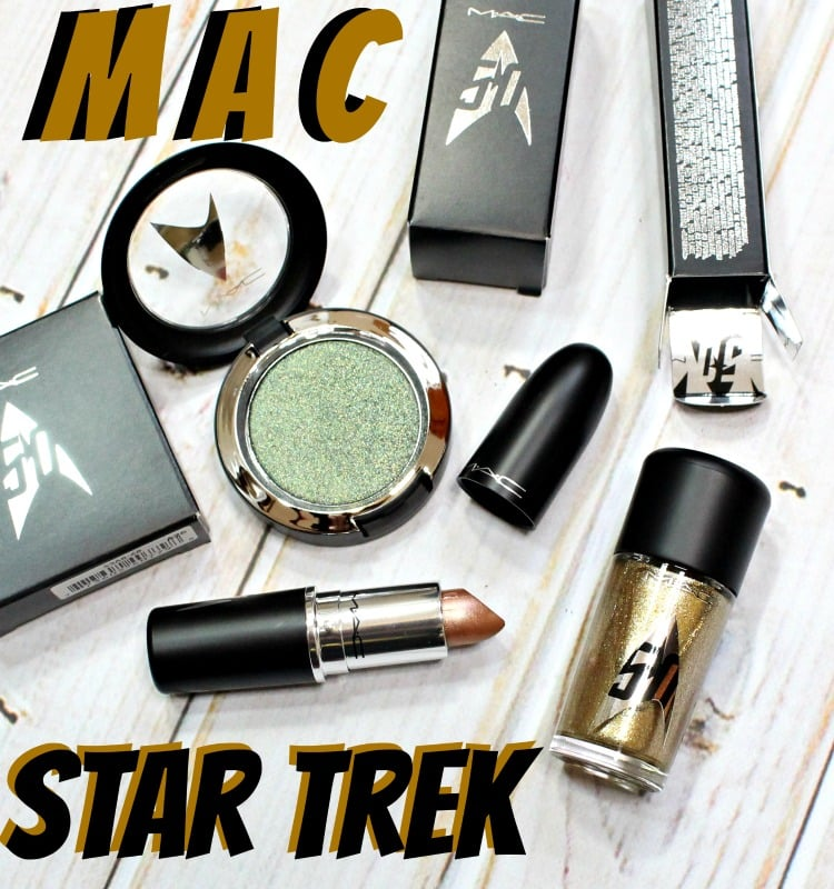 MAC Star Trek Swatches review photos swatch pics makeup collection collab