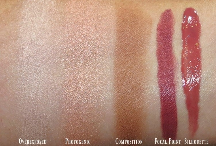 PUR Cosmetics Love Your Selfie 2 palette face lip makeup swatches review swatch pics