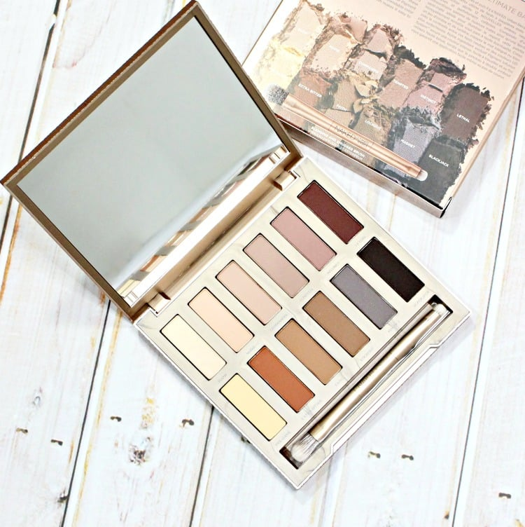 Urban Decay Naked Ultimate Basics Eyeshadow Palette swatches review swatch pics holiday 2016 makeup collection