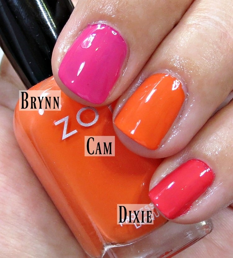 Zoya Nail Polish Swatches Brynn Cam Dixie