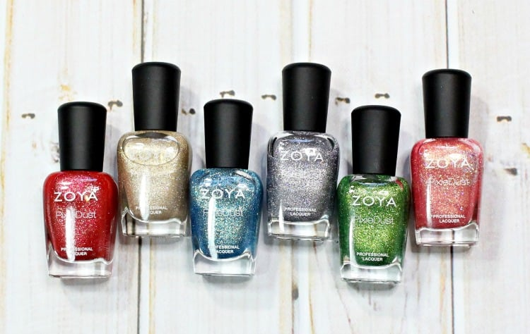 Zoya Seashells Nail Polish Collection swatches review swatch pics