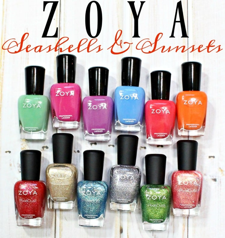 Zoya Seashells & Sunsets Nail Polish Collection swatches review swatch pics