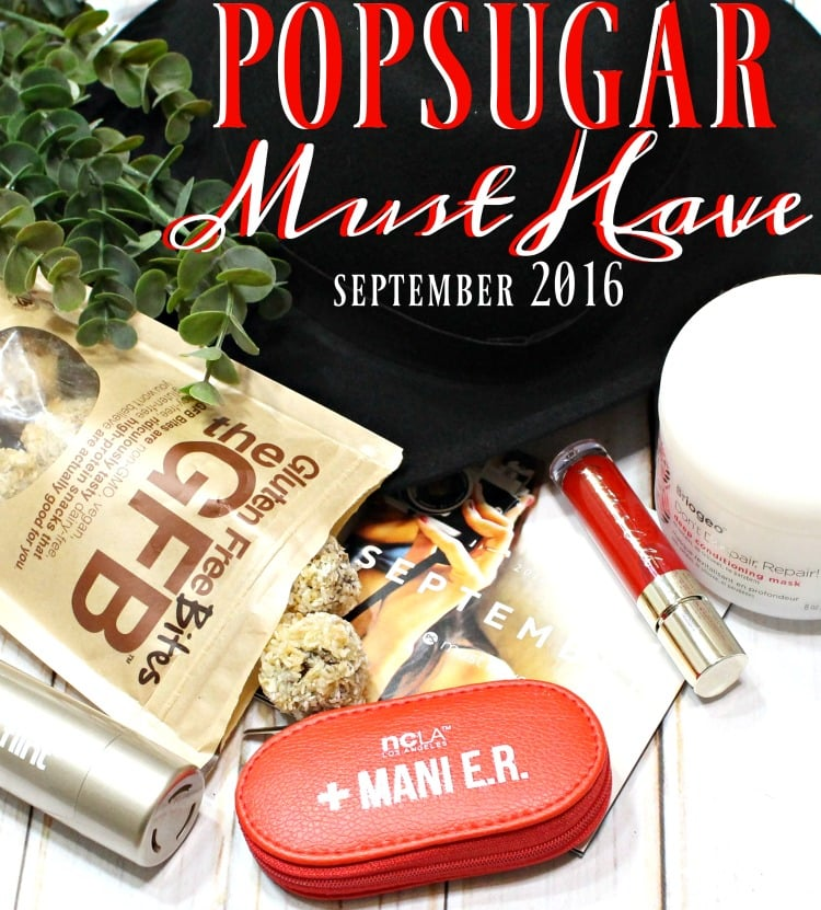 POPSUGAR Must Have Box September 2016 Review + Coupon Code #MustHaveBox