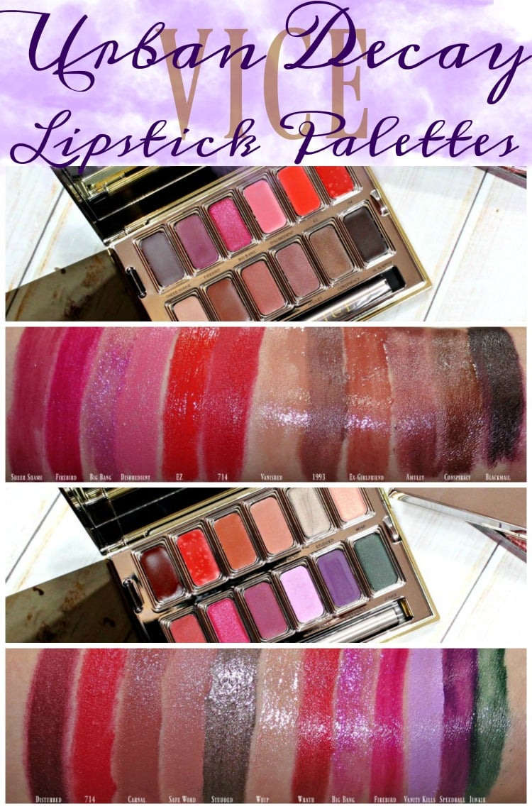 Urban Decay Holiday 2016 VICE lipstick palettes junkie blackmail sephora swatches review swatch pics pinterest