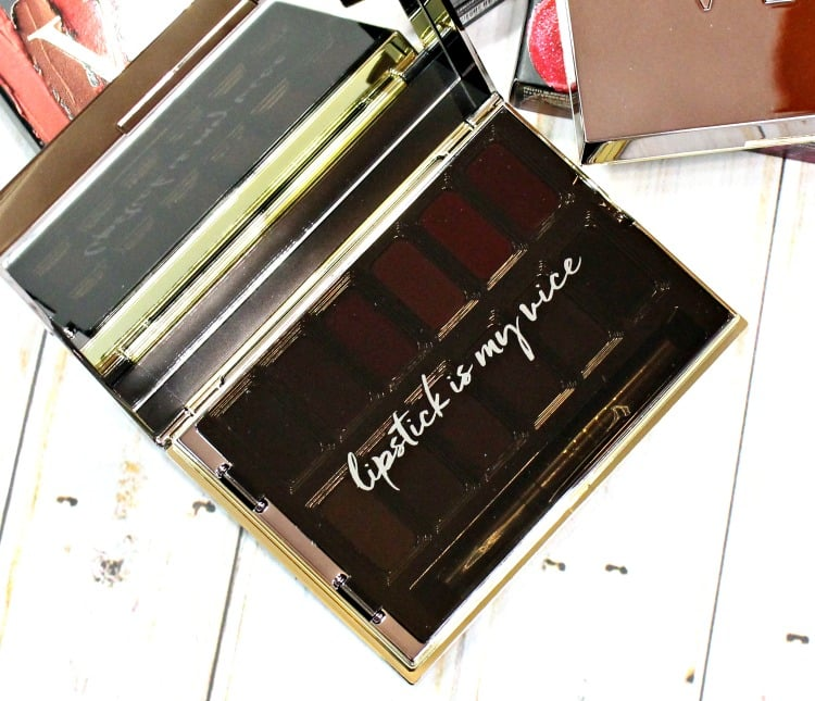 Urban Decay Holiday 2016 lip palette swatches review lipstick is my vice