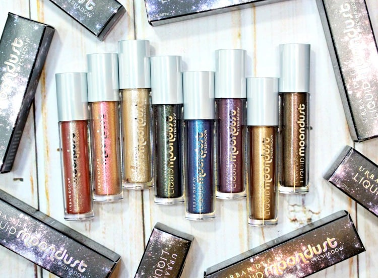Urban Decay Liquid Moondust Eyeshadow Swatches review swatch pics holiday 2016
