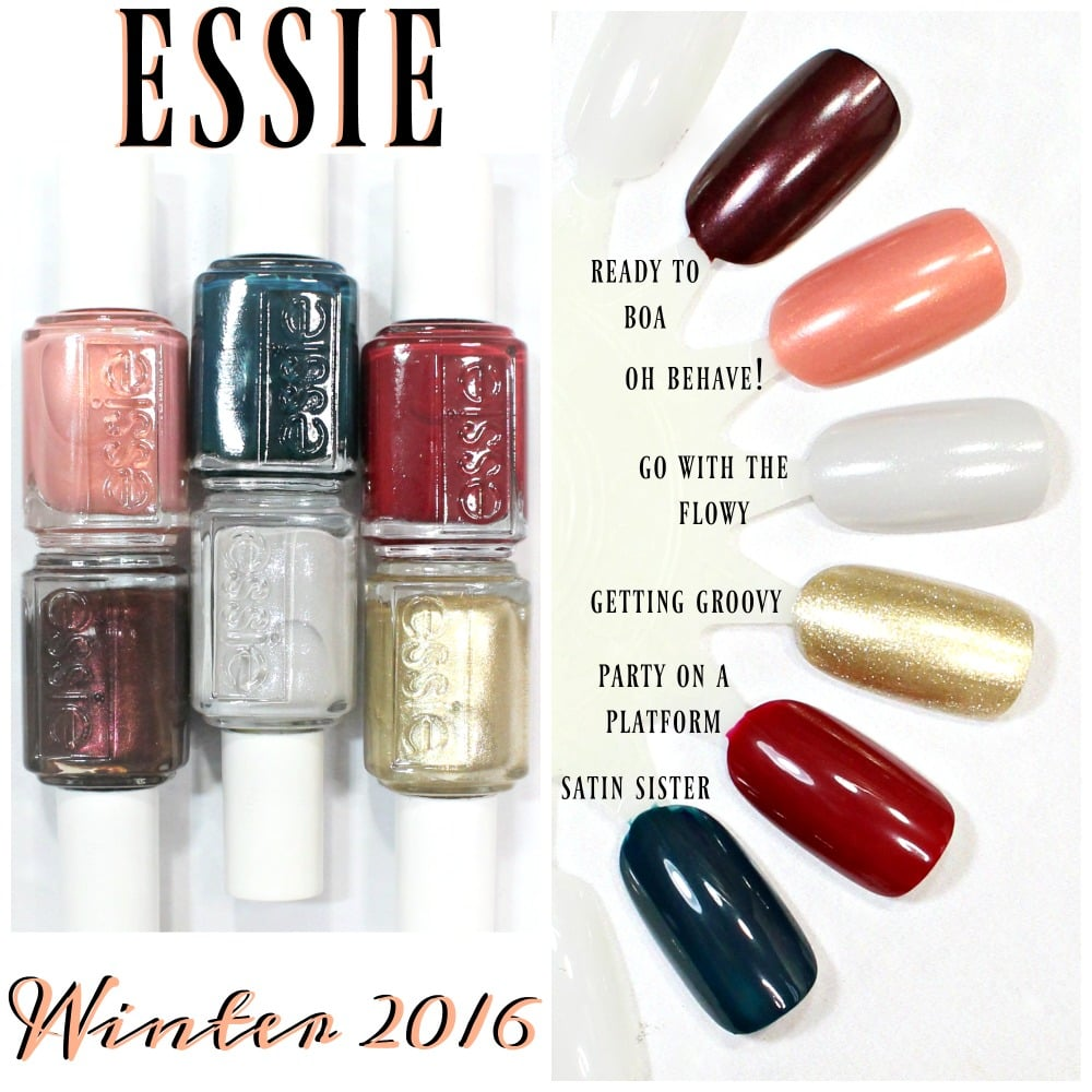 essie winter 2018 collection swatches and review