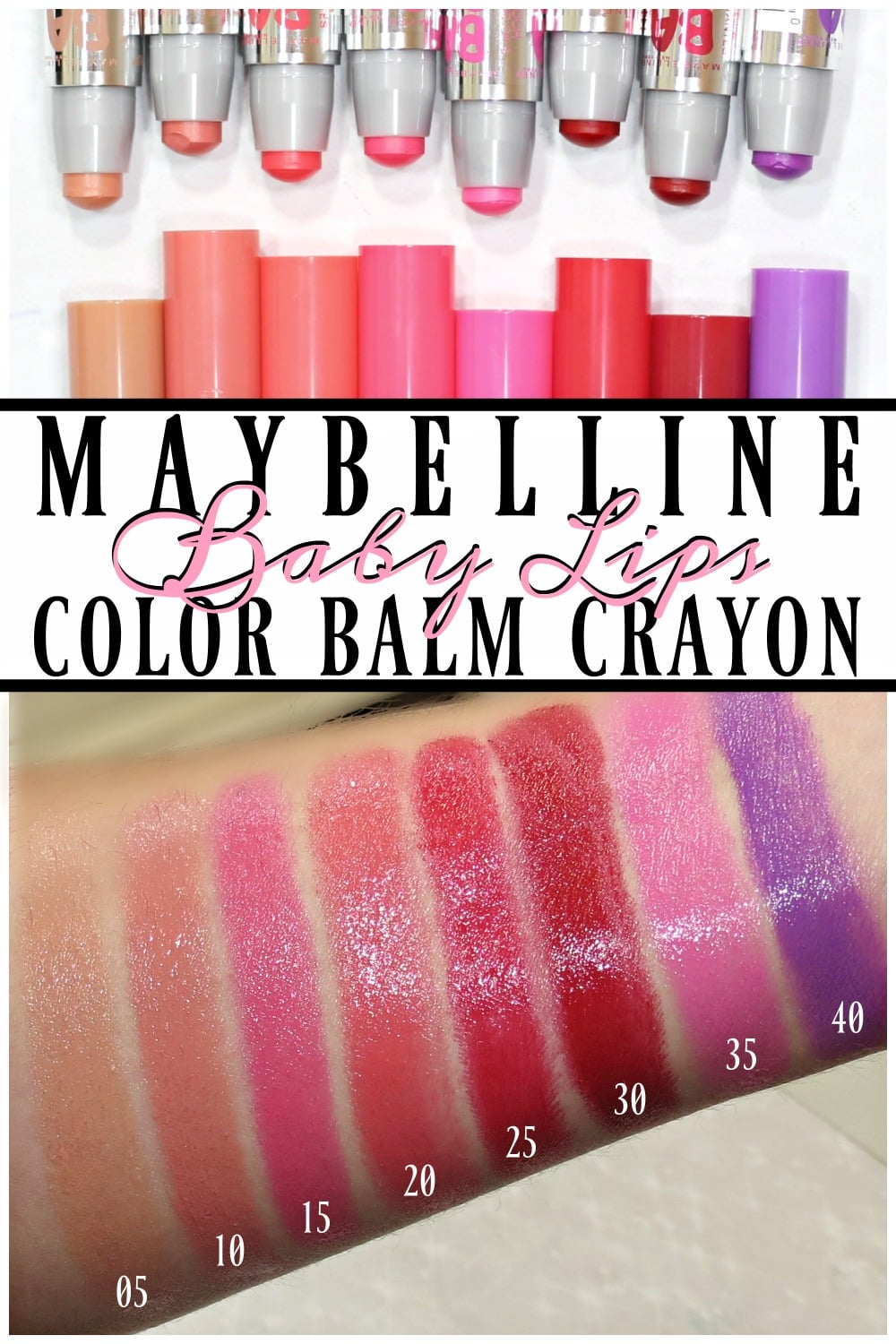 Maybelline Baby Lips Color Balm Crayon Swatches Review