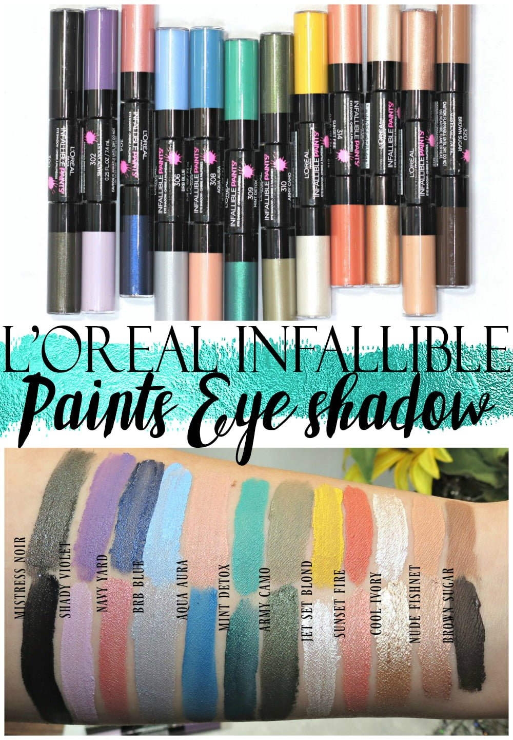 L\'Oreal Infallible Paints Eyeshadow Swatches, Review + Application ...