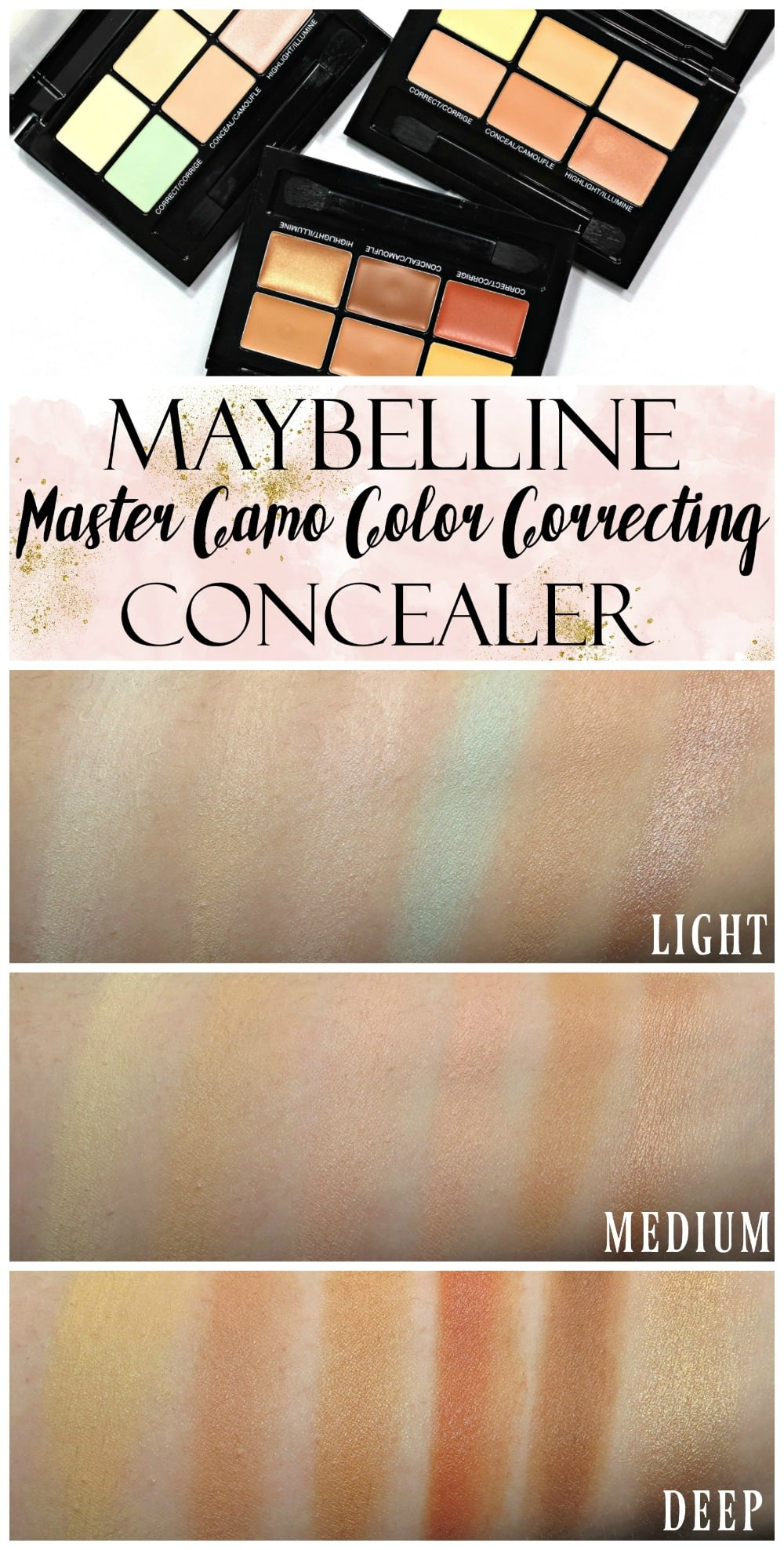 Maybelline Master Camo Color Correcting Concealer swatches review ...