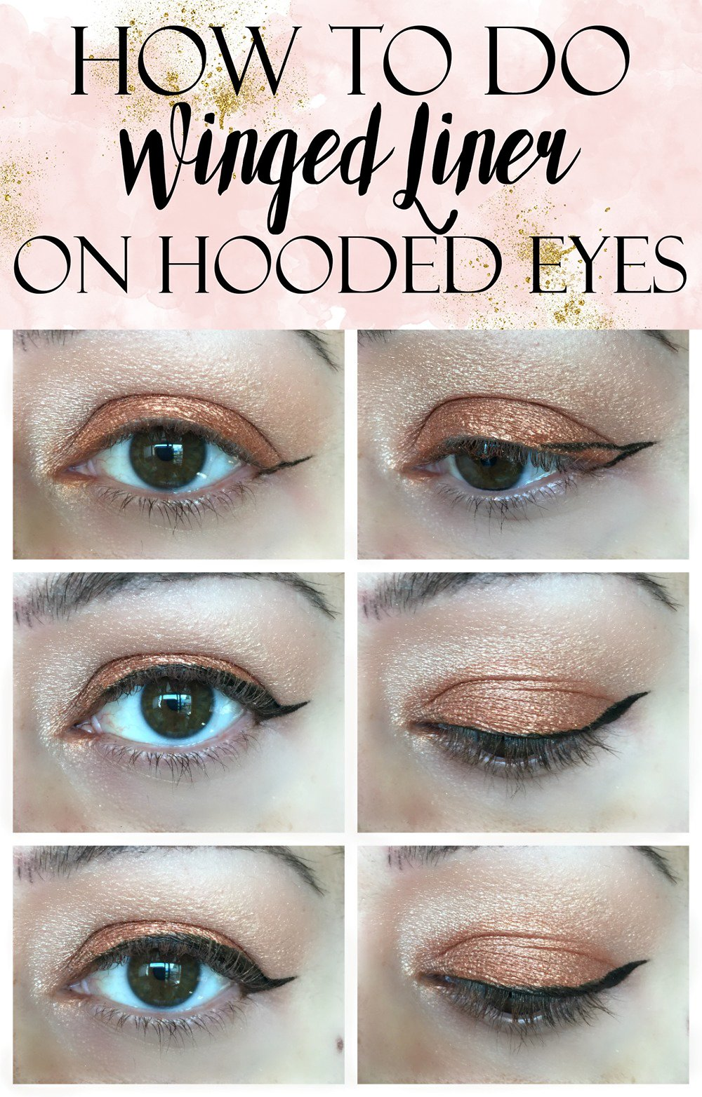 How to apply winged liner on hooded eyes tutorial easy winged eye liner tutorial for hooded eye lids baditri Image collections