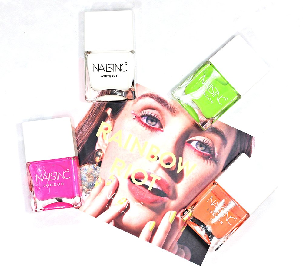 Summer Neon Nail Trends // NAILS INC Rainbow Riot Nail Polish Collection Swatches + Review