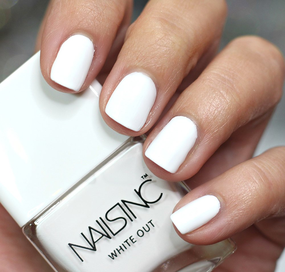 NAILS INC White Out Nail Polish Swatches review swatch pics ...