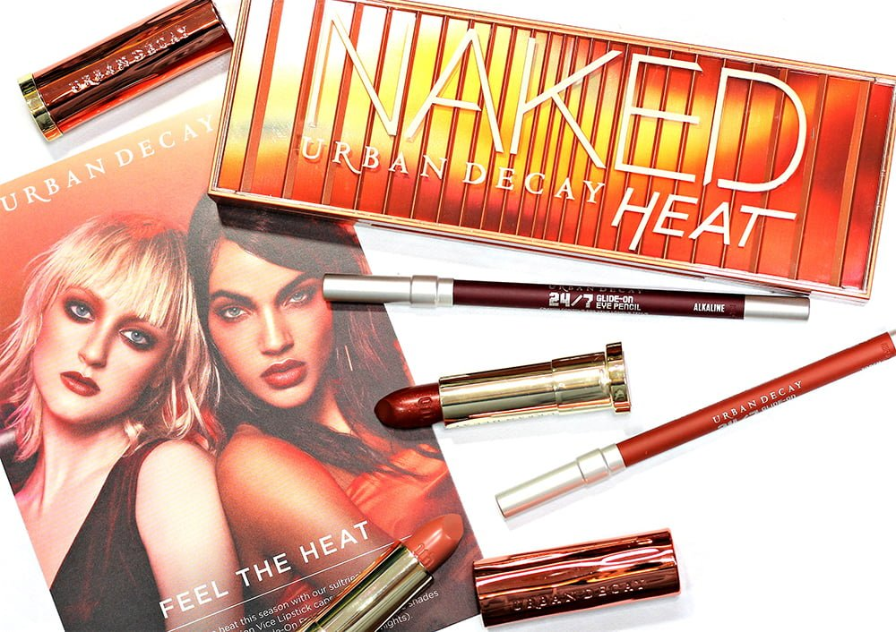 Urban Decay Naked Heat Palette collection swatches review