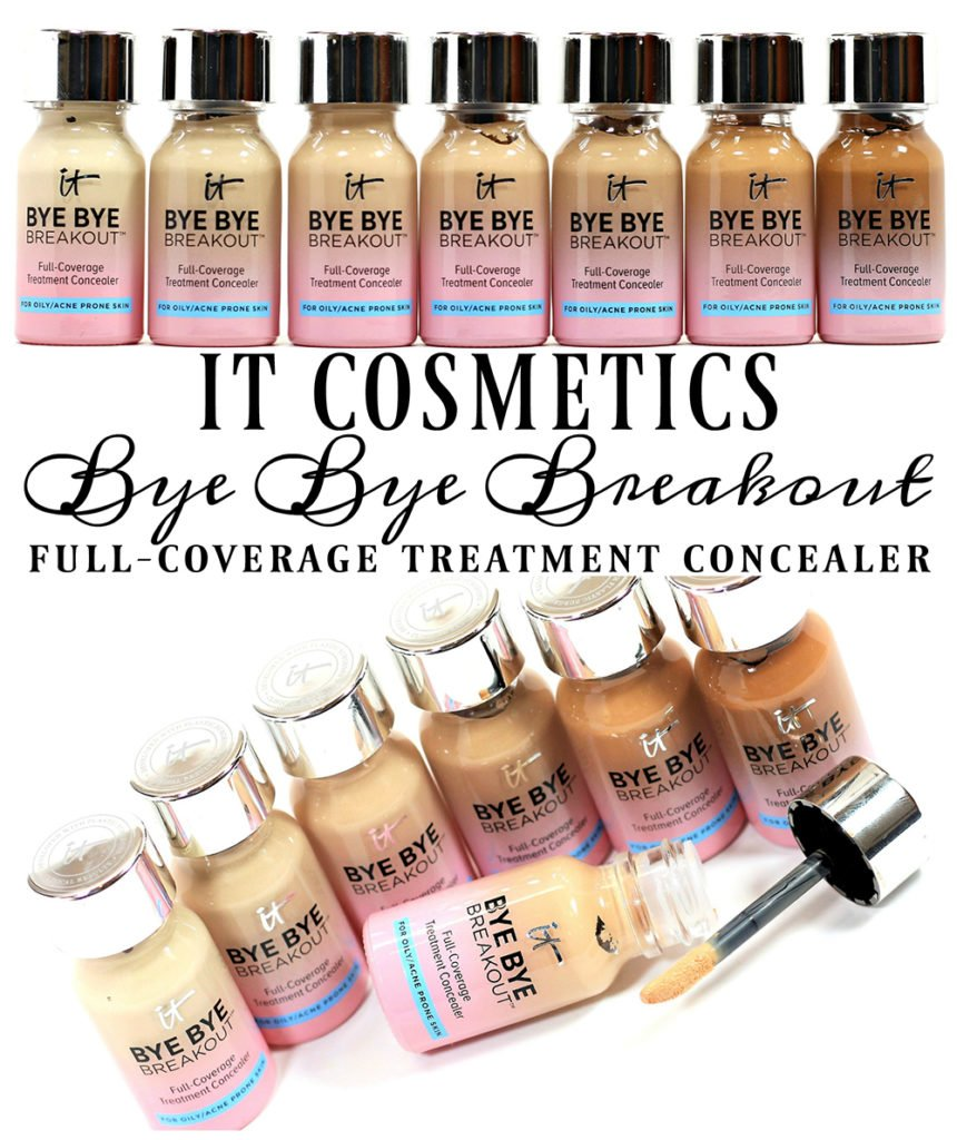 IT Cosmetics Bye Bye Breakout Full-Coverage Treatment Concealer Swatches + Review