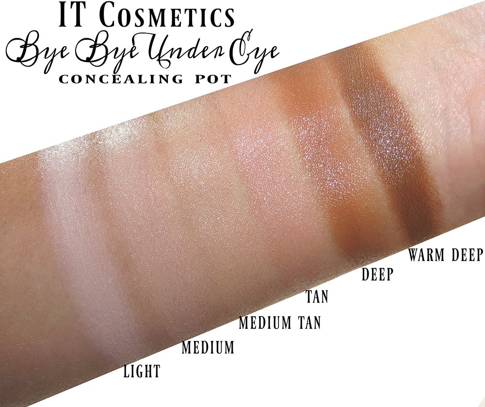 It Cosmetics Bye Bye Under Eye Concealing Pot Swatches