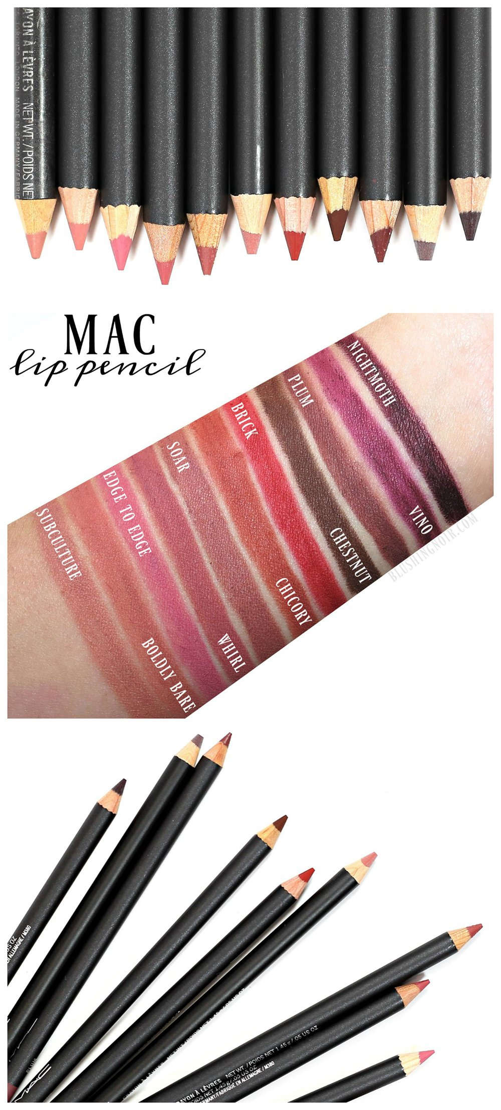 mac lip pencil swatches review