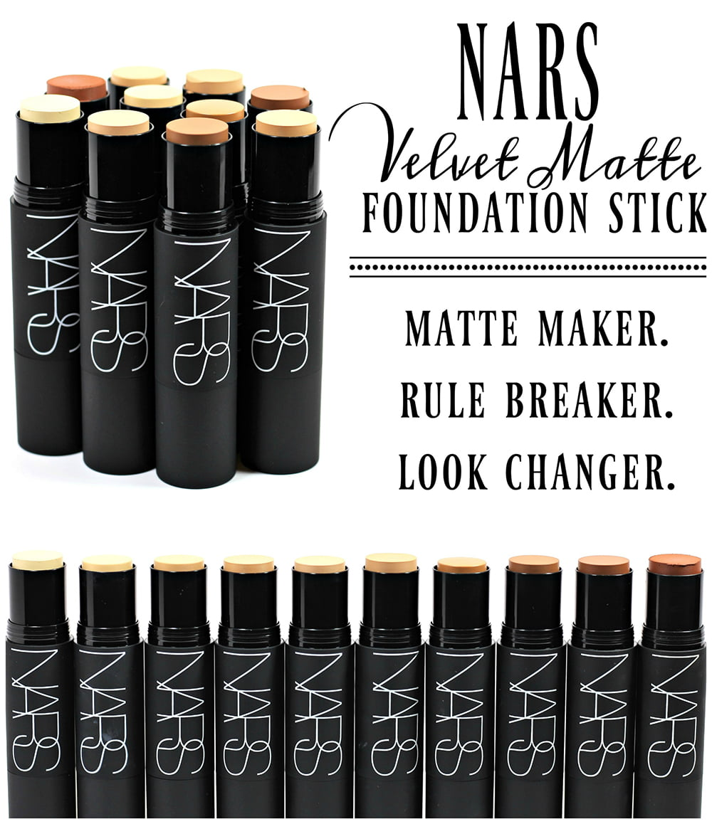Nars Velvet Matte Stick Foundation Swatches Review