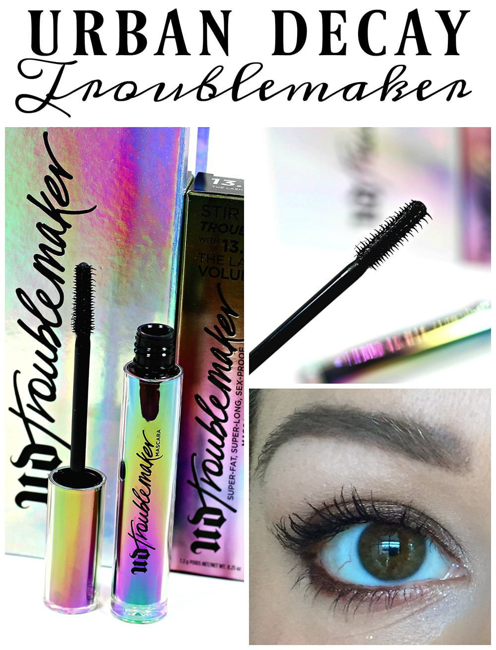 1a65a422a51 Urban Decay Troublemaker Mascara Review & Eye Look