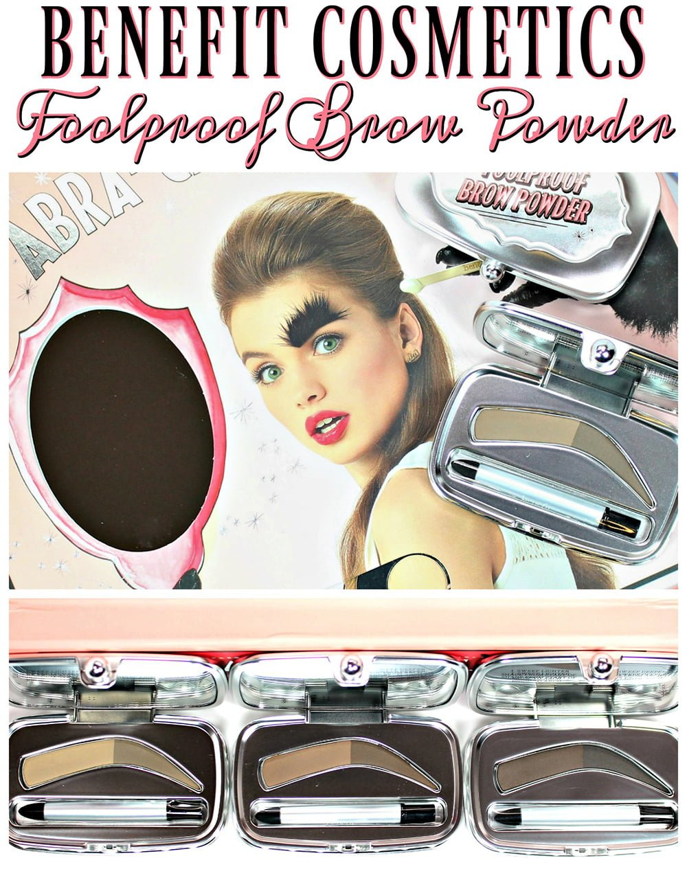 Benefit Foolproof Brow Powder Swatches Review
