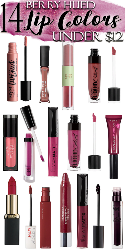 14 Berry Lip Colors Under $12 // Affordable Fall Lip Trends
