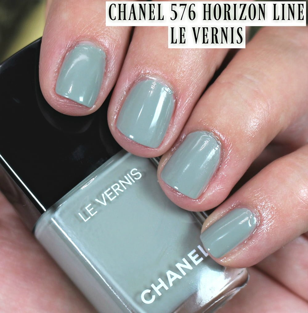 Chanel 576 Horizon Line Le Vernis Nail Polish Swatches + Review