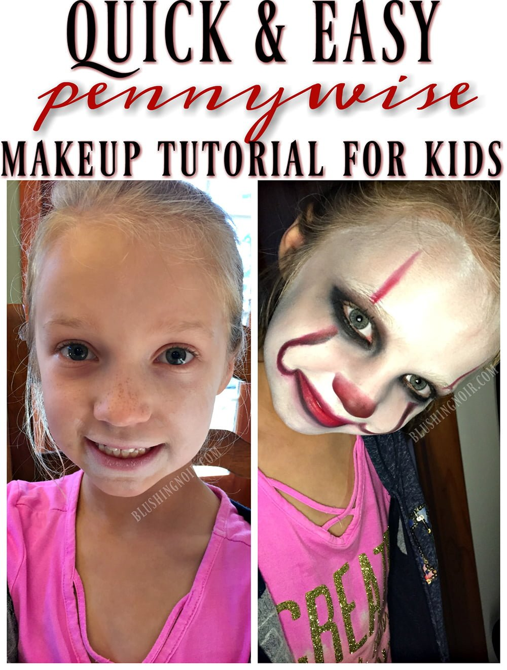 It movie pennywise makeup tutorial for kids baditri Gallery