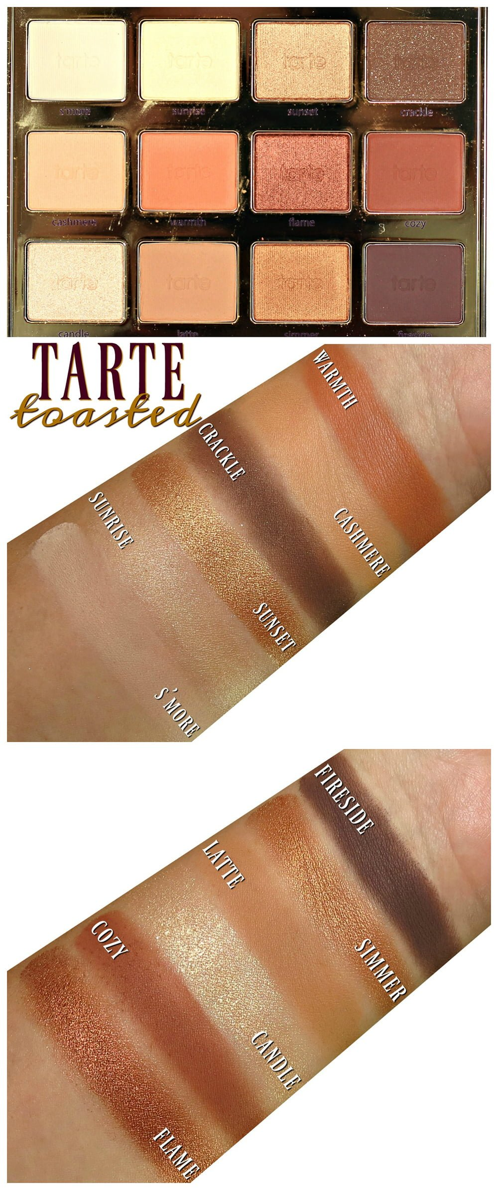 Tarte Tartelette Toasted Eyeshadow Palette Swatches, Review + EOTD