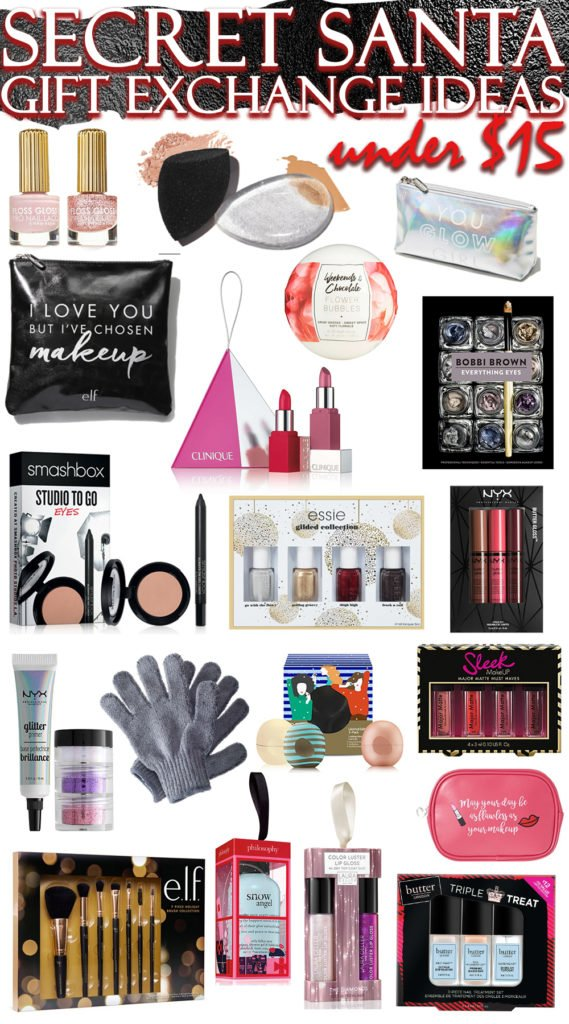 The Best Secret Santa Gift Exchange Ideas in Beauty & ALL Under $15!