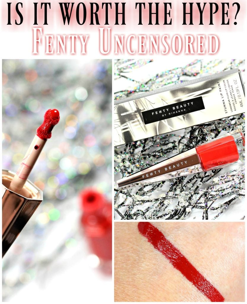 Worth the Hype? Fenty Uncensored Stunna Lip Paint Longwear Fluid Lip Color Swatches + Review