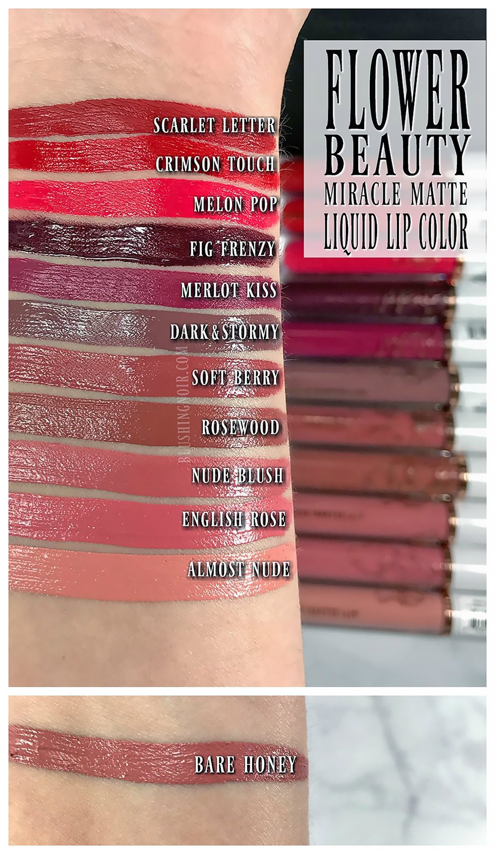 Flower Beauty Miracle Matte Liquid Lip Color Swatches Review