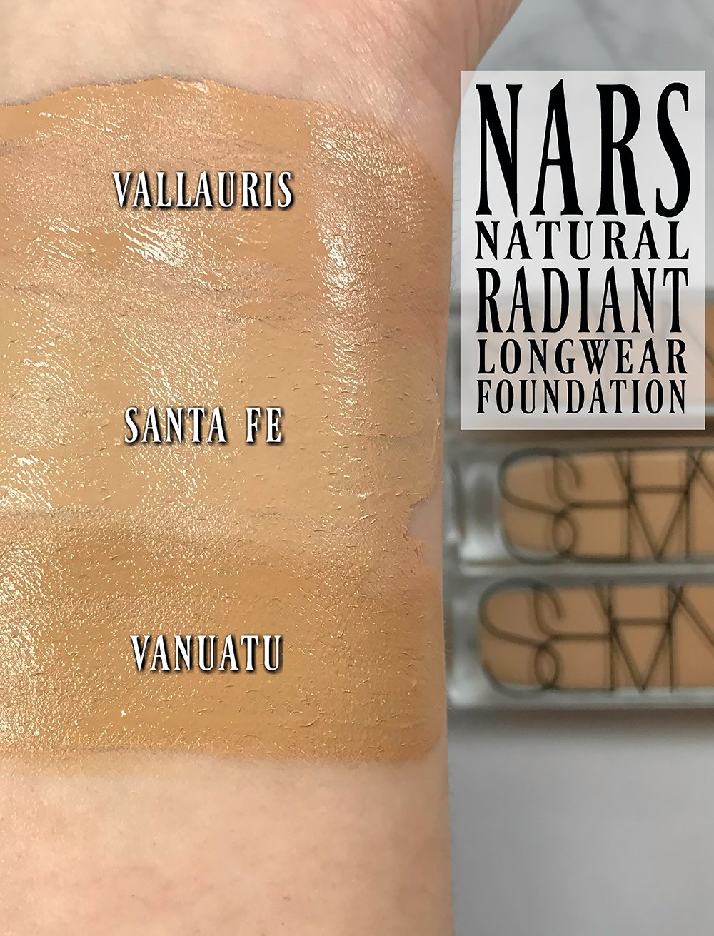 Nars Natural Radiant Longwear Foundation Swatches Review Swatch Pics Photos Blushing Noir