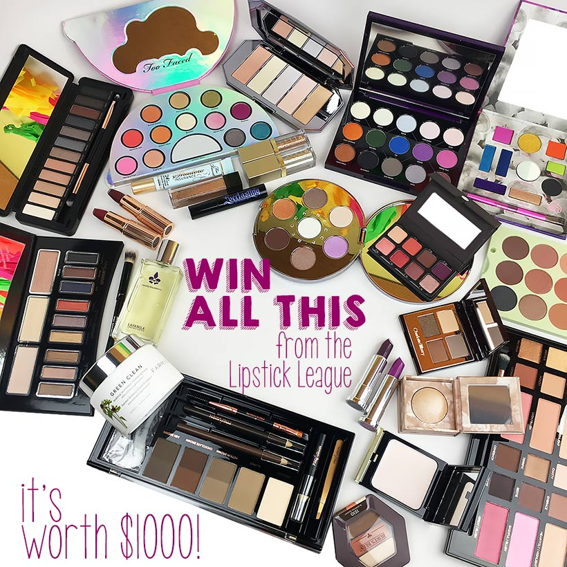 Lipstick League MEGA giveaway: Win $1000 in Beauty Products