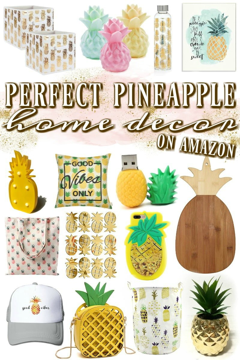 Perfect Pineapple Home Decor To Buy On Amazon Blushing Noir