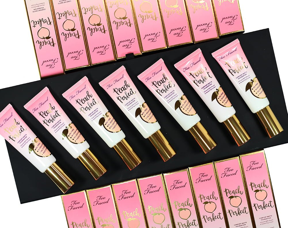 SWATCHED | Every Shade of Too Faced Peach Perfect Comfort Matte Foundation + Review