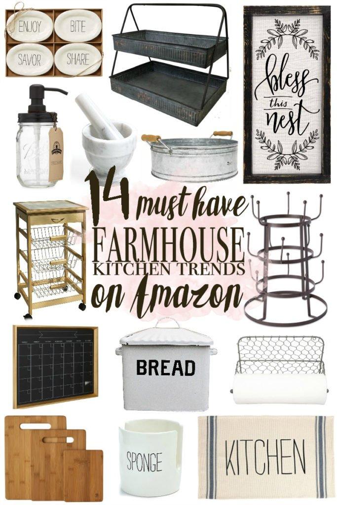 14 Farmhouse Kitchen Trends on Amazon