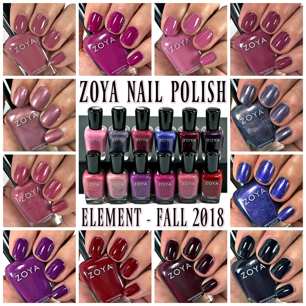 Zoya Element Nail Polish Collection Swatches | Fall 2018