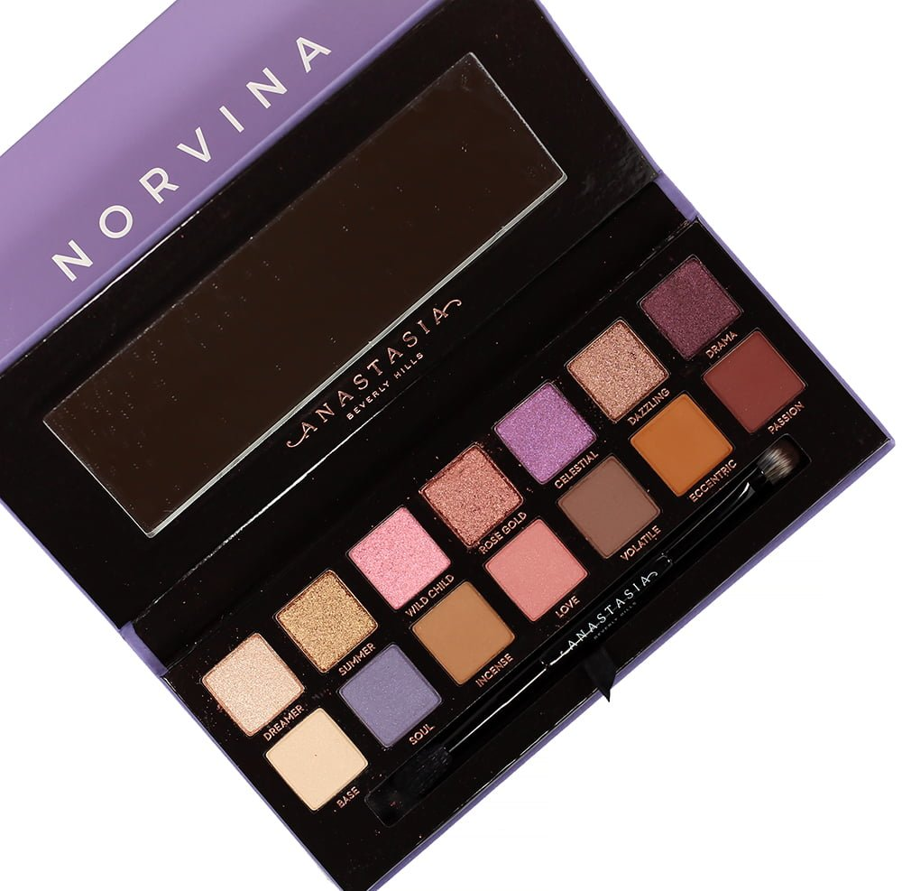 Anastasia Beverly Hills NORVINA Eyeshadow Palette Swatches, Review + Looks