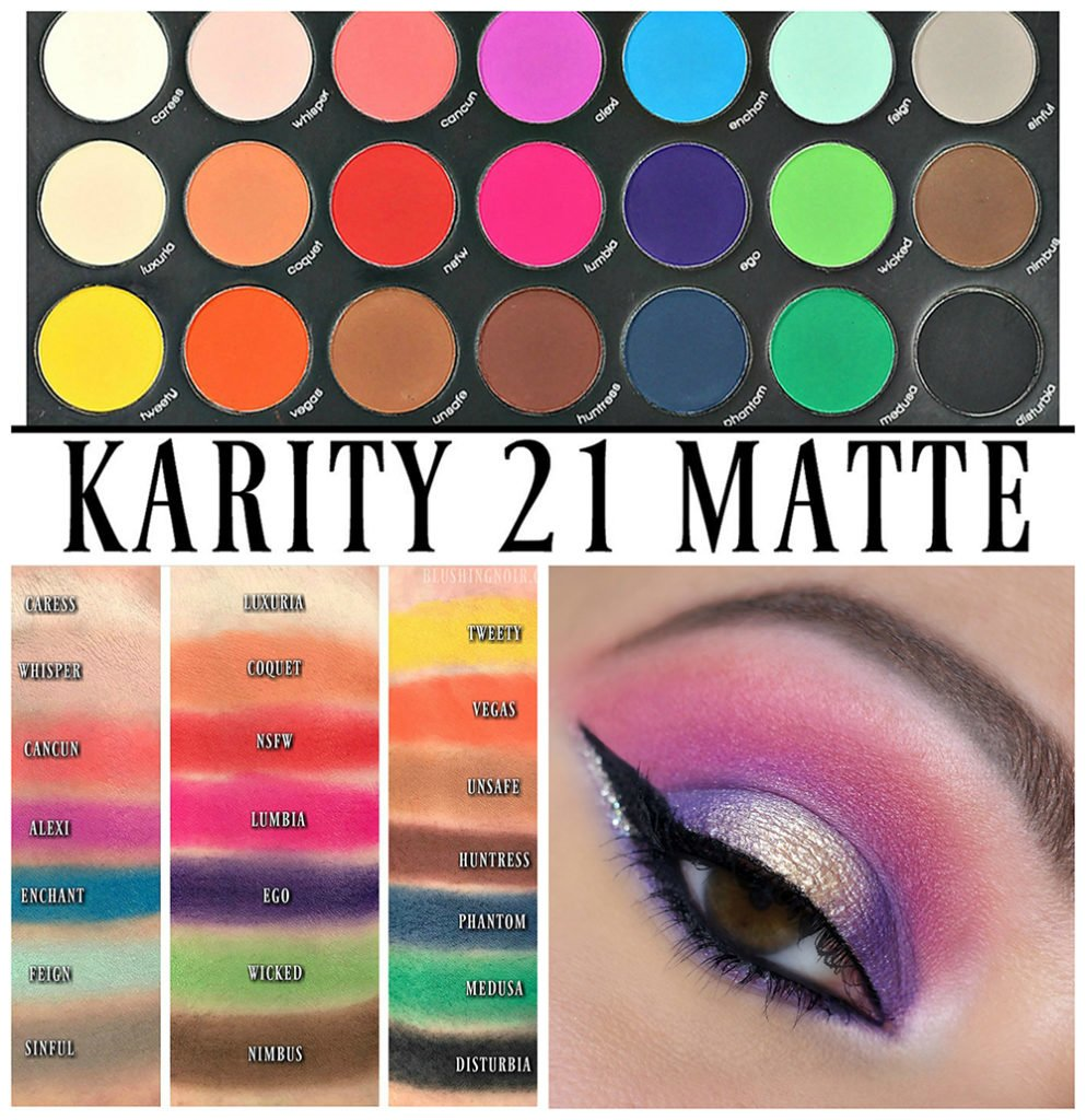 Karity 21 Matte Eyeshadow Palette Review, Swatches + EOTD