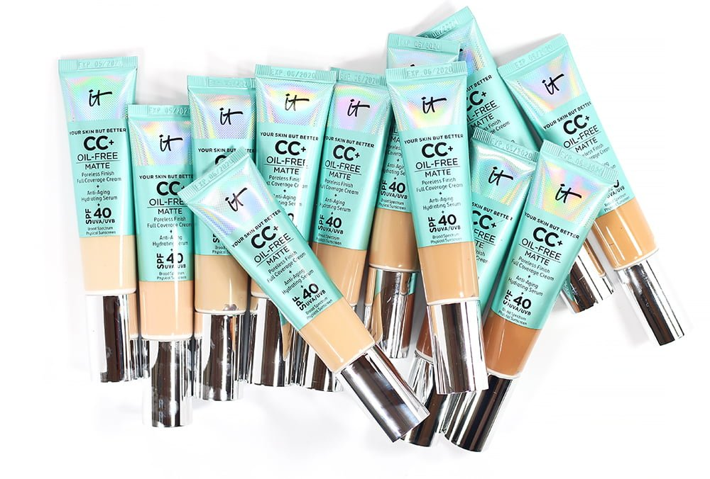Every IT Cosmetics CC+ Oil-Free Matte Foundation Swatched + the NEW Bye Bye Undereye Concealer Shades