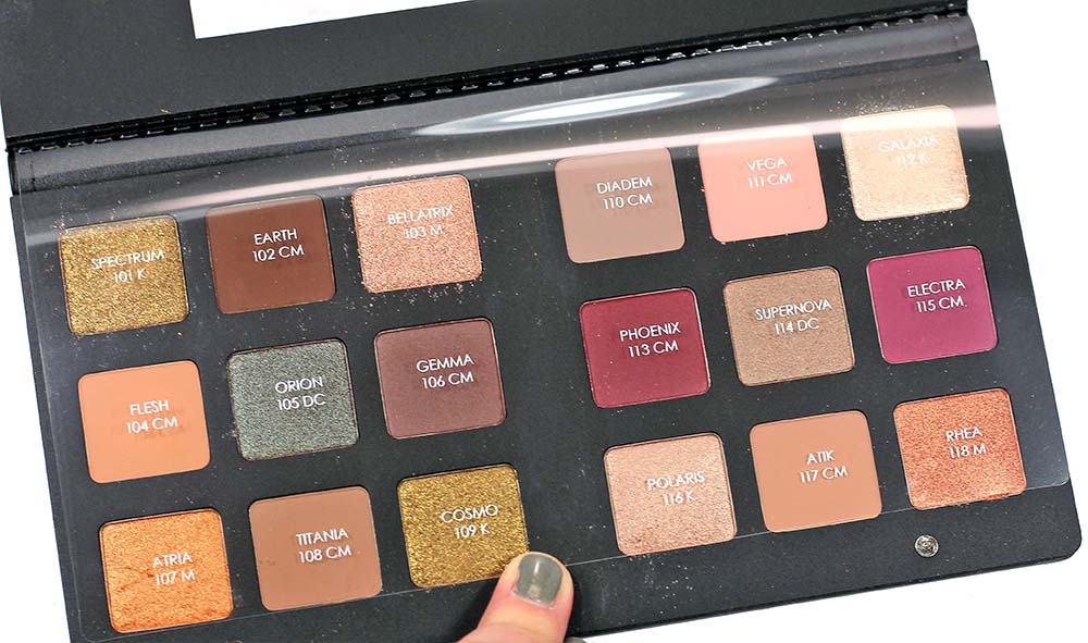 natasha denona star eyeshadow palette swatches review eotd